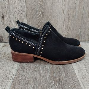 Latigo Anthropologie Studded Ankle Black Boots 9